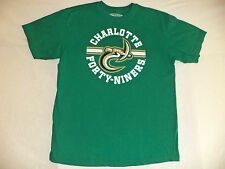 """ES SHORT SLEEVE GREEN T-SHIRT  """"CHARLOTTE FORTY NINERS""""   SIZE M          K#6026"""