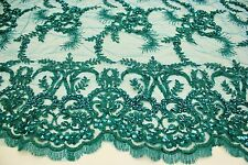Fashion Hand Made Heavy Beaded Embroidery Lace Fabric, Fashion Bridal Lace
