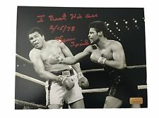 LEON SPINKS SIGNED 8X10 INSCRIBED COA INSCRIPTAGRAPHS MICHAEL 8X MUHAMMAD ALI