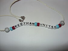 west ham united football necklace/bracelet