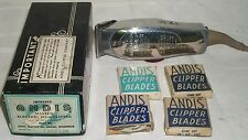 VINTAGE ANDIS MASTER ELECTRIC HAIR CLIPPER #ML W / EXTRA BLADES