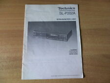Technics SL-P202A  manual , manuale d'uso originale