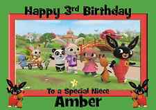 Bing personalised A5 birthday card son daughter brother sister nephew name age