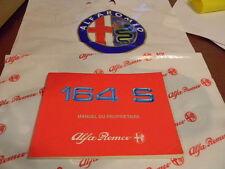 Alfa Romeo 164S -1991 Owners Manual FRENCH - Manuel du Proprietaire