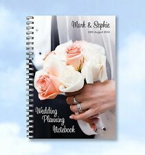 Personalised A4 Notebook Wedding Planning, guest book or wedding list notebook