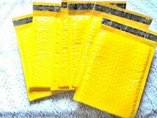 30 New Yellow 4x8 Bubble Mailers,  Neon Padded Shipping Mailing Envelopes #000