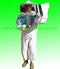 Bee Suit Large Professional HD Ventilated Beekeeping Overalls with 2 Veils.
