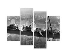 ICONIC NAPPING ATOP A SKYSCRAPER FAMOUS PICTURES FRAMED CANVAS PRINT 4 PIECE ART