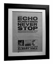 ECHO & BUNNYMEN+Never Stop+POSTER+AD+ORIG 1983+QUALITY FRAMED+FAST GLOBAL SHIP