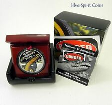 2013 DEADLY & DANGEROUS SEA SNAKE Silver Proof Coin