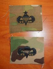 U.S. ARMY parachute BADGE, 4 COMBAT JUMP STAR CLOTH ON MULTICAM, SET OF 2