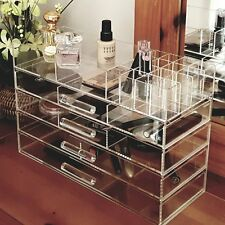 Ikee Design Large Clear Acrylic Jewelry and Cosmetic Storage Display Box COM076