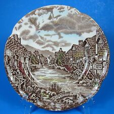 """Johnson Brothers OLDE ENGLISH COUNTRYSIDE 6 1/4"""" Bread Plate (s) England Brown"""