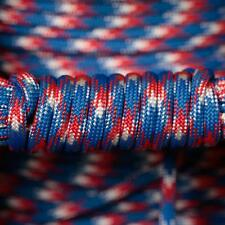 PARACORD 550 TYPE 3 - 7 STRAND PARACHUTE CORD - RED WHITE BLUE CAMOUFLAGE 100FT