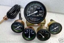 Willys MB Jeep Ford GPW CJ - Speedometer+ Temp+Oil+Fuel+ Amp Gauges Kit- A4