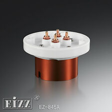 2ps Hifi-end  EIZZ EZ-845A steel ceramic tube socket for 845  805  211 tube...