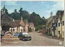 # 008 Castle Combe Wiltshire Square & Market Cross Posted VGC