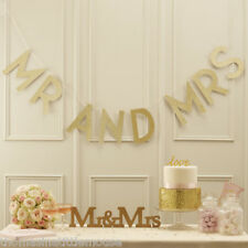 Mr and Mrs Gold Bunting Banner sparkly Wedding  venue decor Ginger Ray