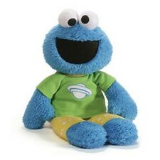 "GUND - SESAME STREET - 16""  PJ PAL COOKIE MONSTER  - PAJAMAS -  CLOTH EYES"