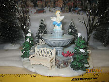 "TRAIN GARDEN VILLAGE HOUSE ""CITY SQUARE PARK FOUNTAIN"" + DEPT 56/LEMAX info"