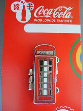 COCA COLA PIN BADGE - LONDON 2012 - TELEPHONE BOX - ITALY - MOC