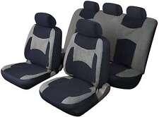LAGUNA SECA UNIVERSALE SET COMPLETO Proteggi Sedile Copre Grigio & Nero Per Audi