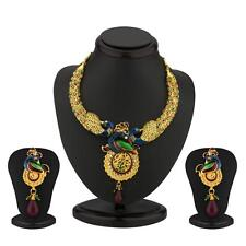 Sukkhi Delightful Australian Diamond Peacock Necklace Set(2092NADM2000)
