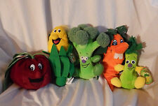 5 Plush Veggies Garden Babies Carrot Corn Radish Friend Seedies Celery Broccoli