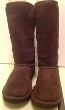 UGG Australia Tall Classic Suede Brown Boots-Girls 4/Wm 5- Very Good Condition!