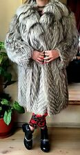 Silver Feathered  Fox Fur Jacket/Coat
