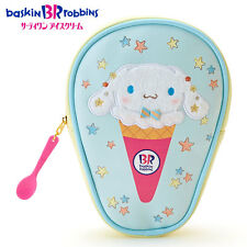 NEW Sanrio x baskin robbins Cinnamoroll ice cream-shaped Pen Pouch 14 × 4 × 21cm