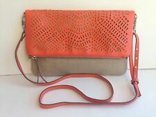 Stella & Dot Waverly Petite in Fresh Orange/ Linen Crossbody 3 in 1 Bag!