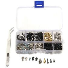 206PCS Computer Screws Kit with tweezer for Motherboard PC Case CD-ROM Hard Disk