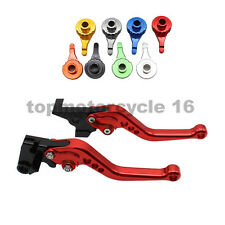 FXCNC Short Brake Clutch Levers Fit APRILIA RS125 2006 2007 2008 2009 2010 Red