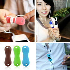 2X Rubber Dog Bone Earphone Cord Cable Organizer Winder Wrap for Headphone
