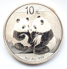 Chinese Silver 2009 PANDA 10 Yuan - Very Rare 999 1oz Bullion Coin