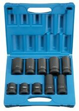 "Grey Pneumatic 9153 1"" Drive 10 Piece Truck Wheel Impact Socket Set"