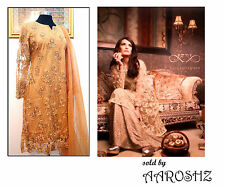 Pakistani Designer Bridal Beaded Pearls Embroidered Banarsi Indian Stitched Suit