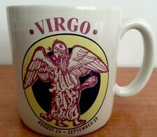 Virgo Mug Westwood Coffee Cup Vintage Zodiac Horoscope Sign Ceramic Rare Mugs