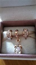 OPEN PANDORA  'S MAGICAL BOX TO SEE A  ROSE GOLD ANGEL & SPACER CHARM SET