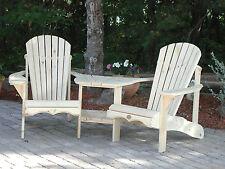 (1) Bear Chair BC950P White Pine Adirondack Angled Tete-a-Tete Patio Chair Kit
