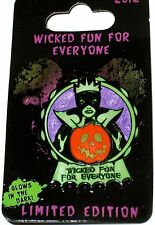 LE Disney Pin✿Villain Evil Queen Wicked Fun for Everyone Glow Pumpkin Halloween