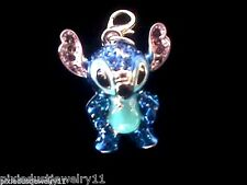 Brand New Disney Crystal Covered 3-D Stitch Charm