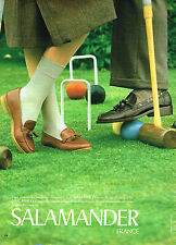 PUBLICITE ADVERTISING 025  1980  SALAMANDER  chaussures pour le golf