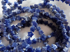 "15 1/2"" Strand Natural Sodalite Flat Star Stone Beads 6mm A535 DNG"
