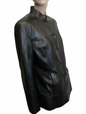 LADIES 100% REAL LEATHER BLACK JACKETS SIZE XXL FROM ALLIGATOR  (D-45)