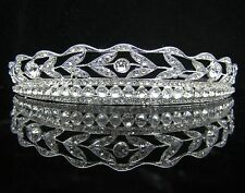 Wedding/Bridal crystal veil tiara crown headband CR194