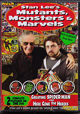 Stan Lee's 2 DVD Creating Spider-Man Here Come Heroes Mutants Monsters & Marvels