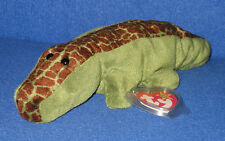 TY ALLY the ALLIGATOR BEANIE BABY - MINT with MINT TAGS