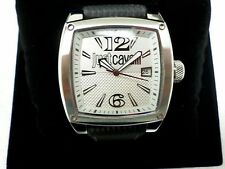 NEW Just Cavalli  R7251583002 Women's Watch Black Pulp Leather Strap Square Case